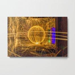 RUINED - Light Painting Metal Print