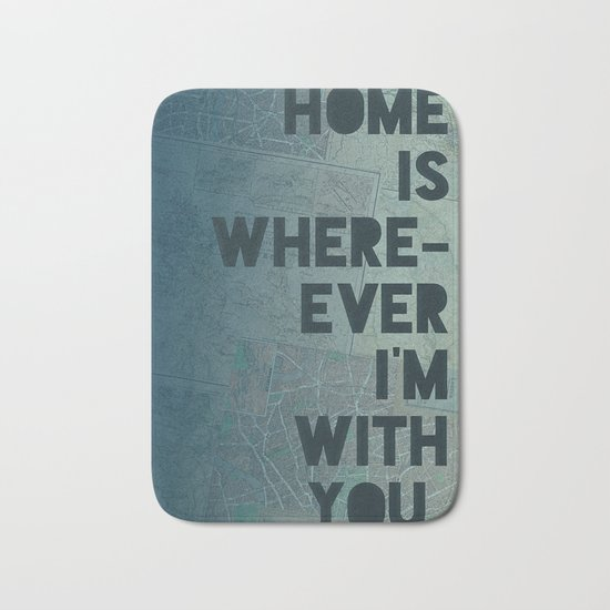 Home is with You Bath Mat