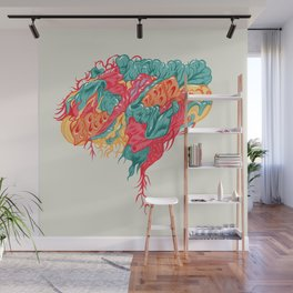 BRAIN WAVES Wall Mural