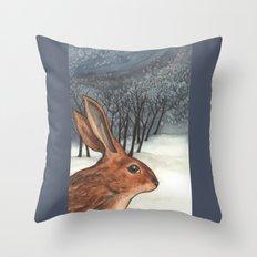 Ten of Rabbits Throw Pillow