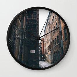 Urban grit, Manchester. Wall Clock