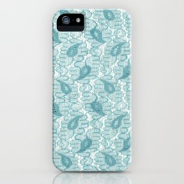 Lace in Cyan with a Paisley Print iPhone Case