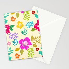 Poster Background | Colorful Blossom Flower Stationery Cards