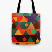 moon phase Tote Bags featuring The moon phase by Picomodi