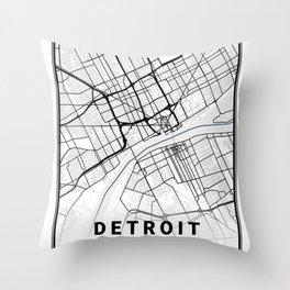 Detroit Light City Map Throw Pillow