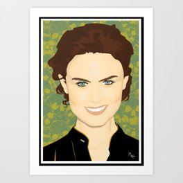 Emily Deschanel Art Print