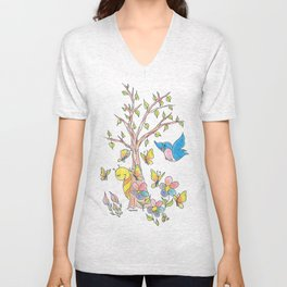 """Love In Bloom"" Unisex V-Neck"