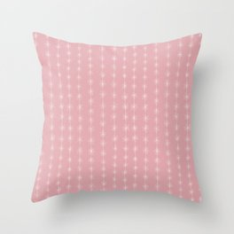 Pink Daisy Chain Throw Pillow