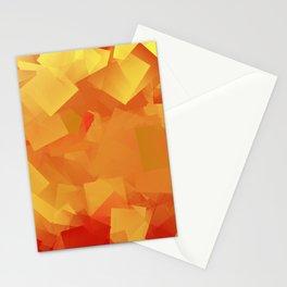 Cubism in orange Stationery Cards