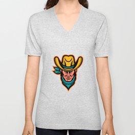American Cowboy Sports Mascot Unisex V-Neck