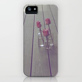 Simple Pink Roses iPhone Case