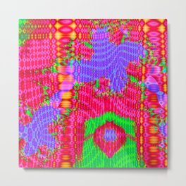 Funky colors and patterns Metal Print