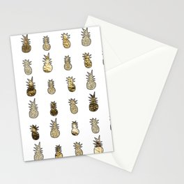 Gold pineapple pop Stationery Cards