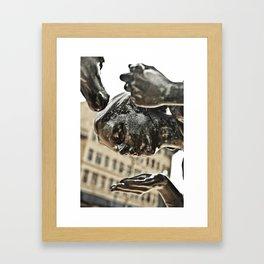 Child Statue Framed Art Print