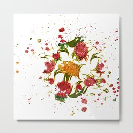 Beautiful Australian Native Floral Graphic Metal Print