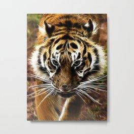Amur tiger fractal Metal Print