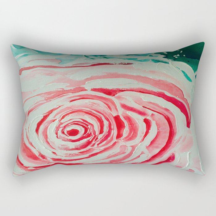 Where the Pink Roses Grow, Summer is Ending and Romantic Fall Nights are Here Rectangular Pillow