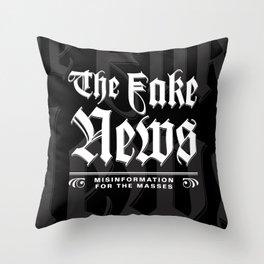 The Fake News Header Throw Pillow