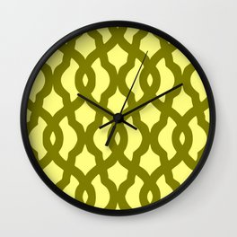Grille No. 2 -- Yellow Wall Clock