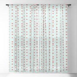 Uneven Dots Watermelon Sheer Curtain