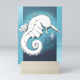 SeaUnicorn Mini Art Print