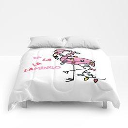 Christmas Flamingo Comforters