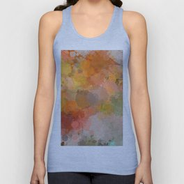 Modern contemporary Yellow Orange Abstract Unisex Tank Top