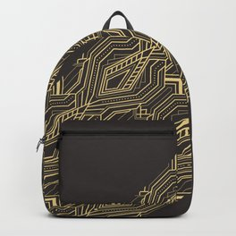 Art Deco Geometric Glam Backpack