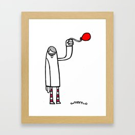 The Red Balloon Framed Art Print