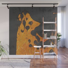 Beauty By the Square Inch  - Howling Dog Wall Mural