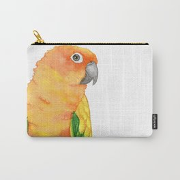 sun conure watercolor - parakeet painting portrait Carry-All Pouch