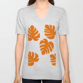 Orange Palm Unisex V-Neck