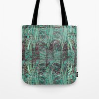 malachite Tote Bags featuring Malachite by M. Noelle Studios