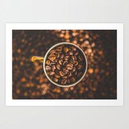 COFFEE - BEANS - PHOTOGRAPHY Art Print