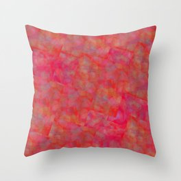 Bright Pink Cubism Abstract Throw Pillow