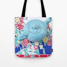 Teapot Blues Tote Bag