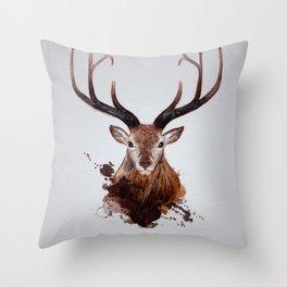 Cervus Canadensis Throw Pillow