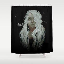 White Arrows Shower Curtain