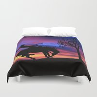 cowboy bebop Duvet Covers featuring Cowboy by Laureenr