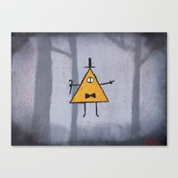 bill cipher Canvas Prints featuring Bill Cipher by Ryn-the-Obsessed