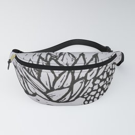 Lino printed succulent #9 Fanny Pack