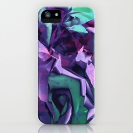 Restless Unicorn. Dynamic Purple and Teal Abstract. iPhone Case