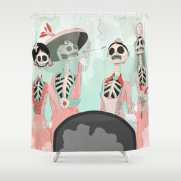 A visit from Heaven Shower Curtain
