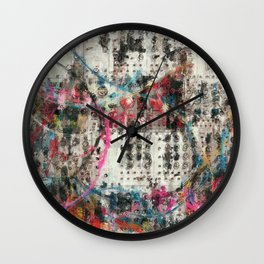 Analog Synthesizer, Abstract painting / illustration Wall Clock