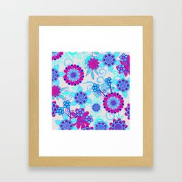 Happy Hippy Flower Power Framed Art Print