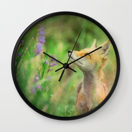 Close Encounters of the Fox Kind Wall Clock