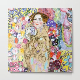 "Gustav Klimt ""Portrait of Maria Munk (unfinished)"" Metal Print"