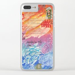 Peaceful As The Sea Clear iPhone Case