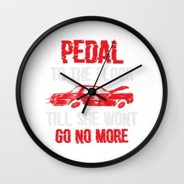 Demolition Derby Pedal To The Floor Gift Wall Clock