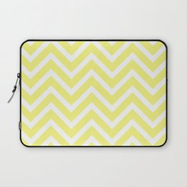 Chevron Stripes : Yellow & White Laptop Sleeve
